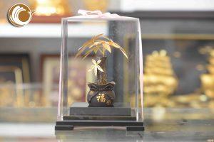 Cây kim ngân bằng vàng lá 24k, giá bán cây kim ngân vàng
